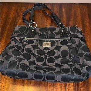 Coach Poppy Black Purse Handbag authentic